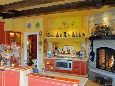 quebec chalet hot tub fireplace 8