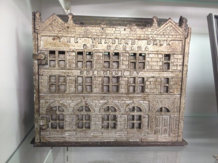 Cast Iron Traders Bank Toronto 1891 Antique 1