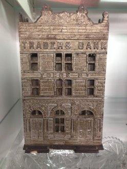 Cast Iron Traders Bank Toronto 1891 Antique 3