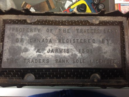 Cast Iron Traders Bank Toronto 1891 Antique 4