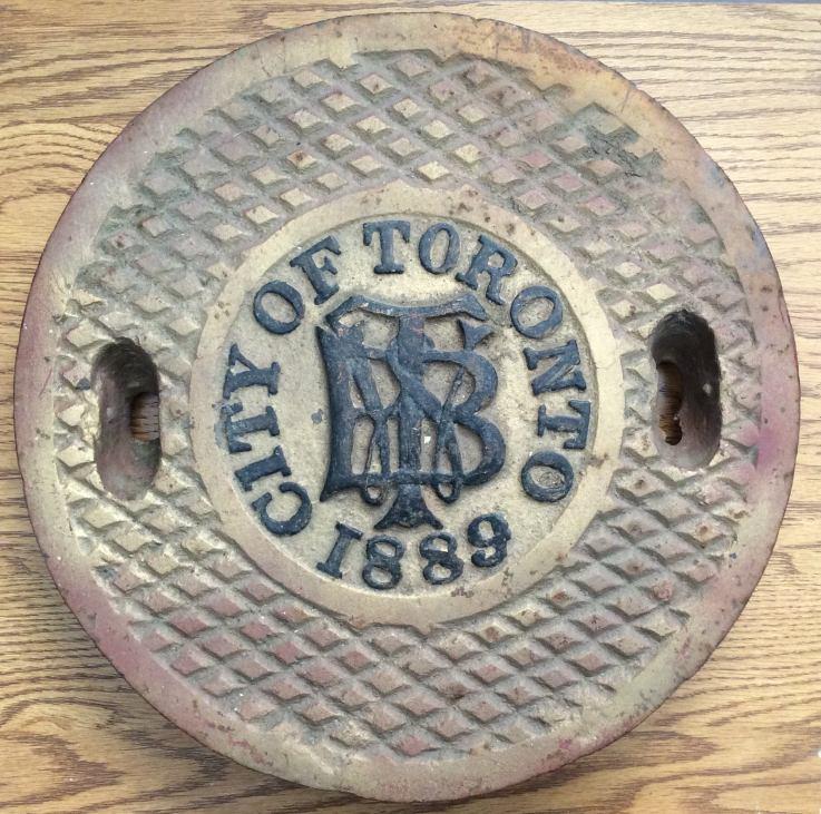 city of toronto manhole antique 1889 1