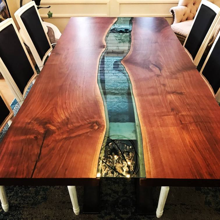 Live Edge Black Walnut Table Luxury Residence
