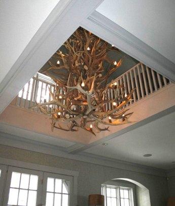 elk antler chandelier canada 4