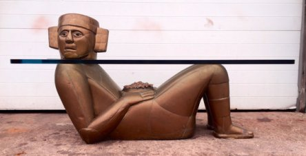 Mayan Figural Coffee Table by Mario Gonzalez 1