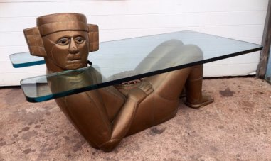 Mayan Figural Coffee Table by Mario Gonzalez 2