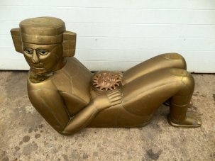 Mayan Figural Coffee Table by Mario Gonzalez 3