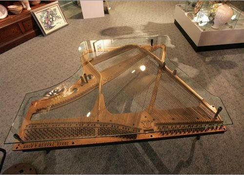 piano harp coffee table