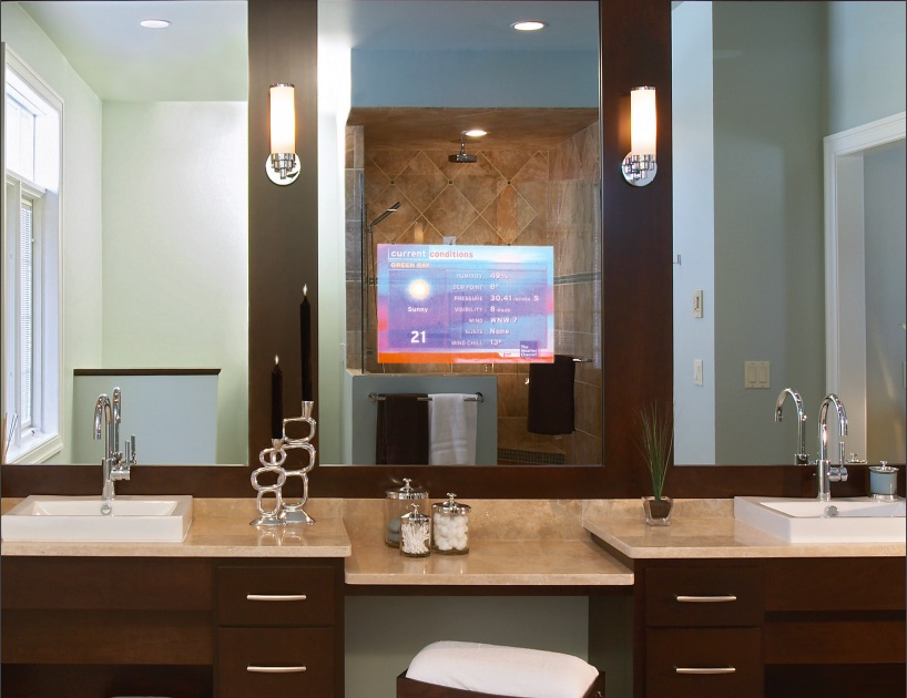 Vanishing TV Mirrors For The Bathroom - Luxury Residence