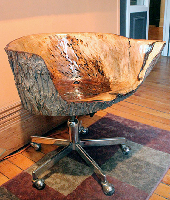 live edge wood office chair 5