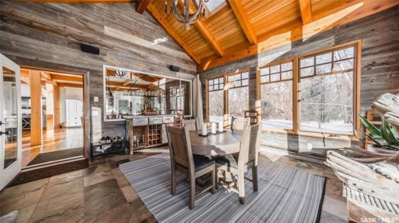 timber frame luxury home saskatchewan 8