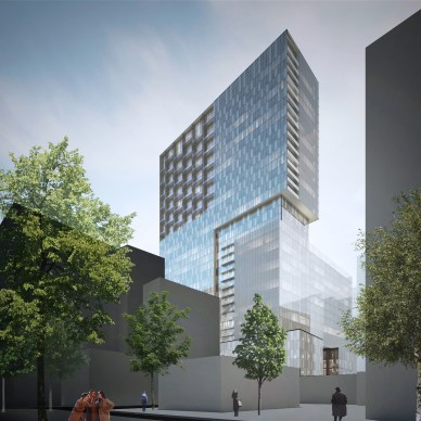 Cogir Real Estate and the Fonds immobilier de solidarité FTQ unveil HUMANITI (Source: Lemay) (CNW Group/Fonds immobilier de solidarité FTQ)