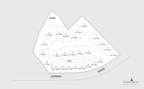 parkwalk maple bay site plan