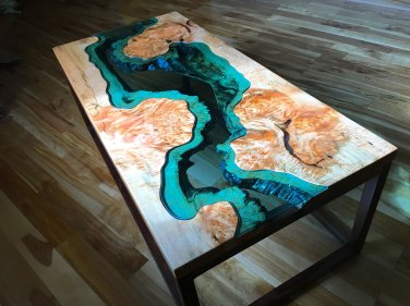 Big Leaf Maple River Coffee Table 1