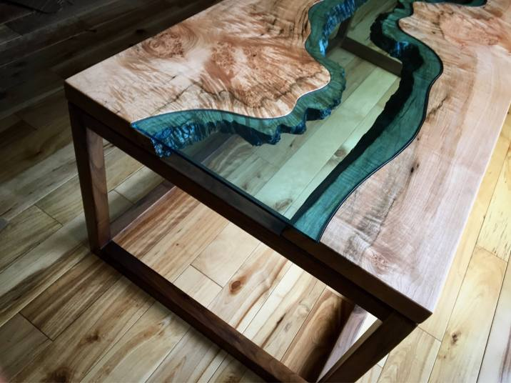 Big Leaf Maple River Coffee Table 2