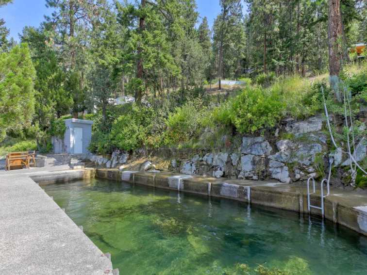 okanagan lakefront home for sale concrete swimming pool 2